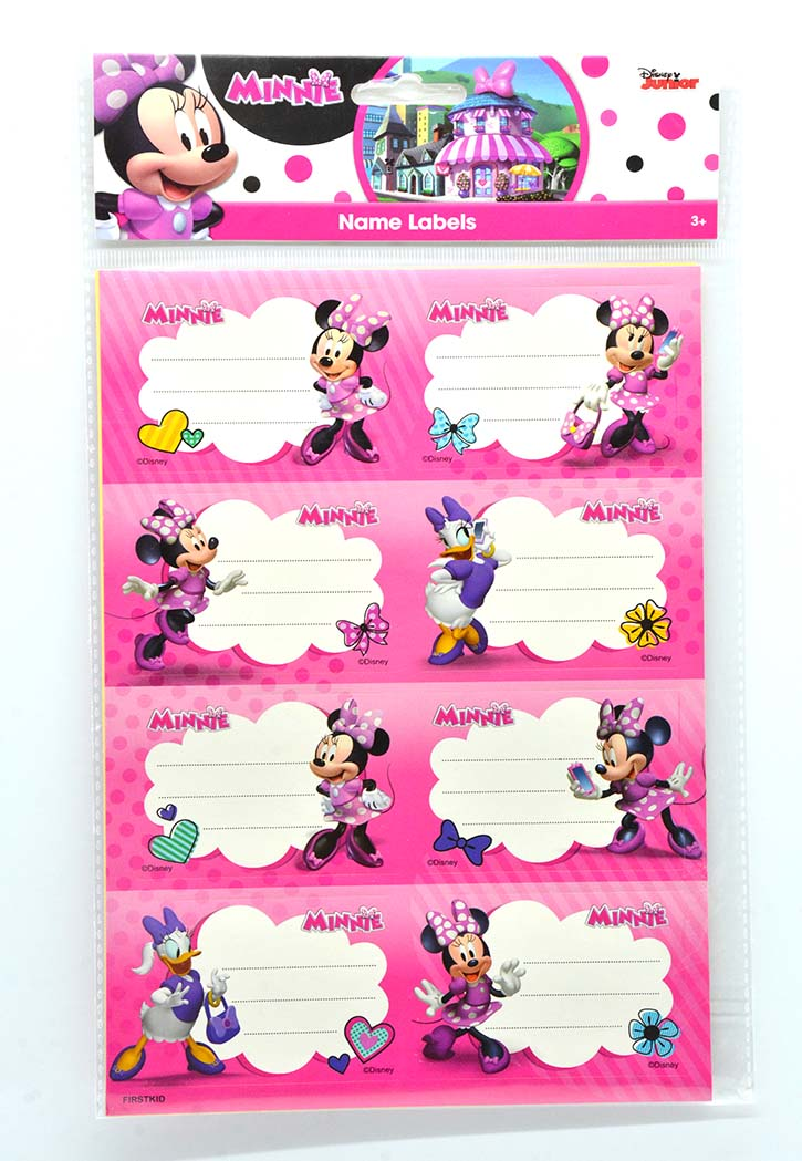 MINNIE SCHOOL NAME LABELS 2SHEETS