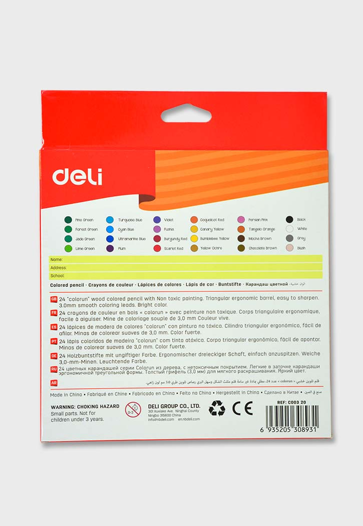 Deli - Colored Pencil 24PCS