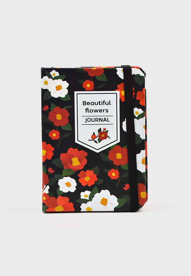 Beautiful Flowers Journal Notebook A7