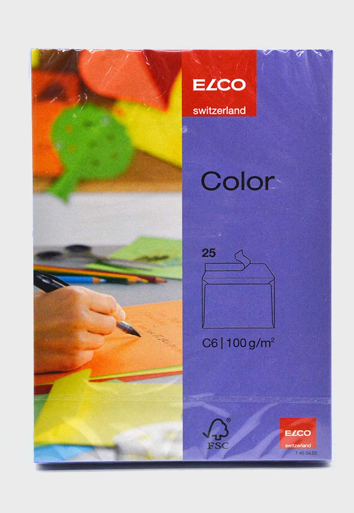 Elco - Envelope Neon Color C6 (Violet)