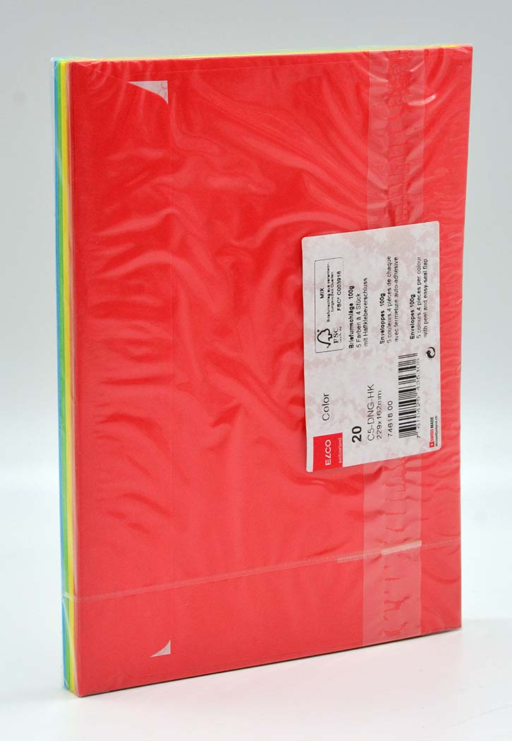 Elco - Envelope Neon 5 Colors C5 (Colored)