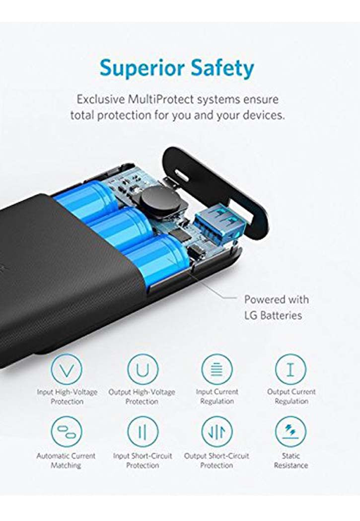 ANKER POWER CORE II 10000MAH PORTABLE CHARGER BLACK