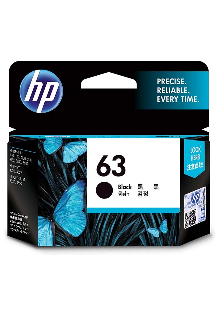 HP - 63 Ink Cartridge (Yellow)