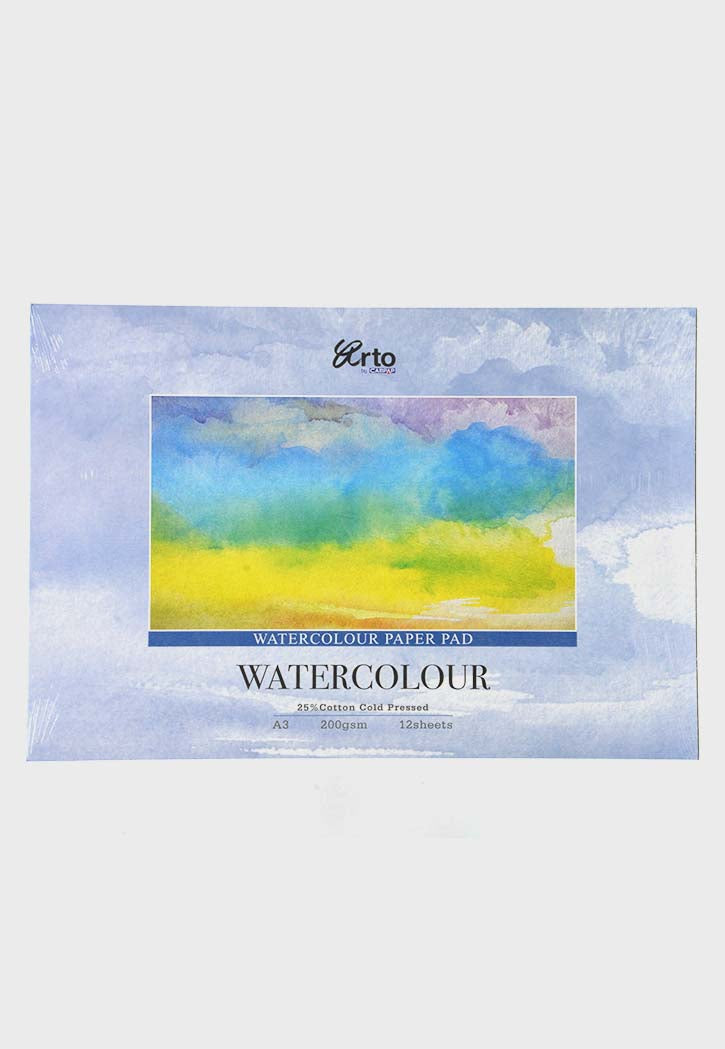 Arto - Watercolor Paper Pad A3 Cotton Cold Pressed