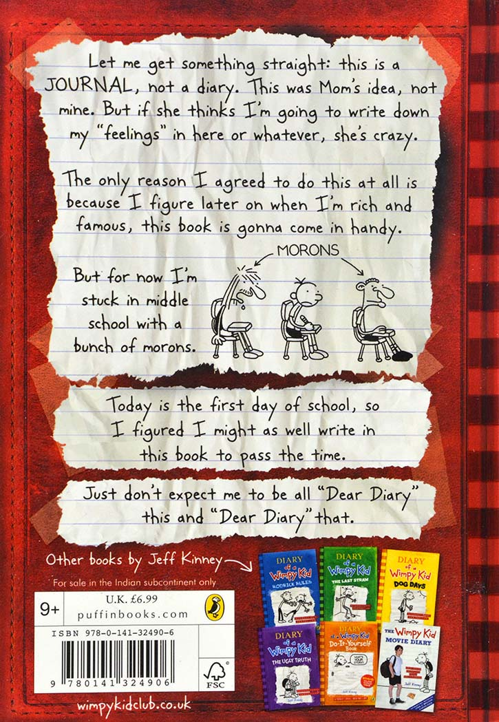DIARY OF A WIMPY KID -A NOVEL IN CARTOONS - 1