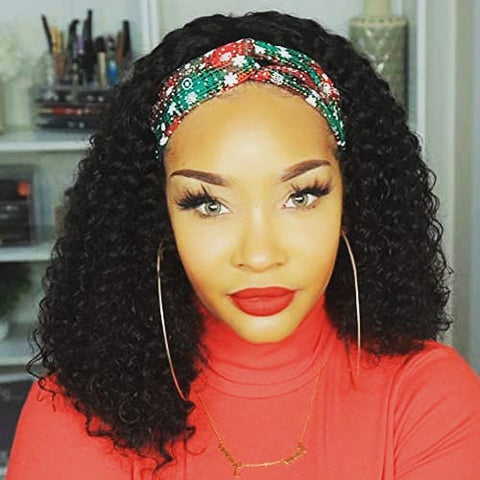 "20"" Deep Curly Headband Wig"
