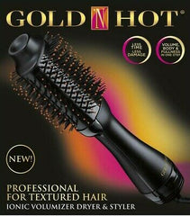 Gold N Hot Professional One Step Ionic Volumizer Dryer & Styler For Textured Hair
