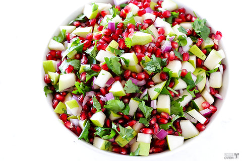 Pear Pomegranate Salsa for Ayurvedic Spring Diet