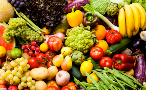 Benefits of plant-based diets including fruits & vegetables