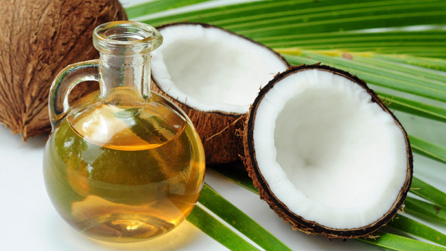 coconuts oil leaves