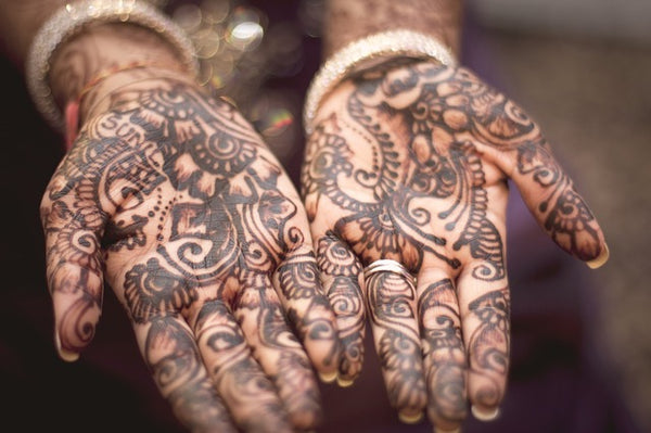 Henna hands open palm