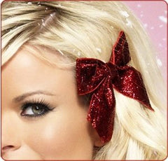 Holiday hairstyle bow