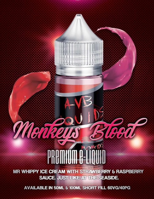 AVB Liquids - Monkeys Blood  Premium E-liquid