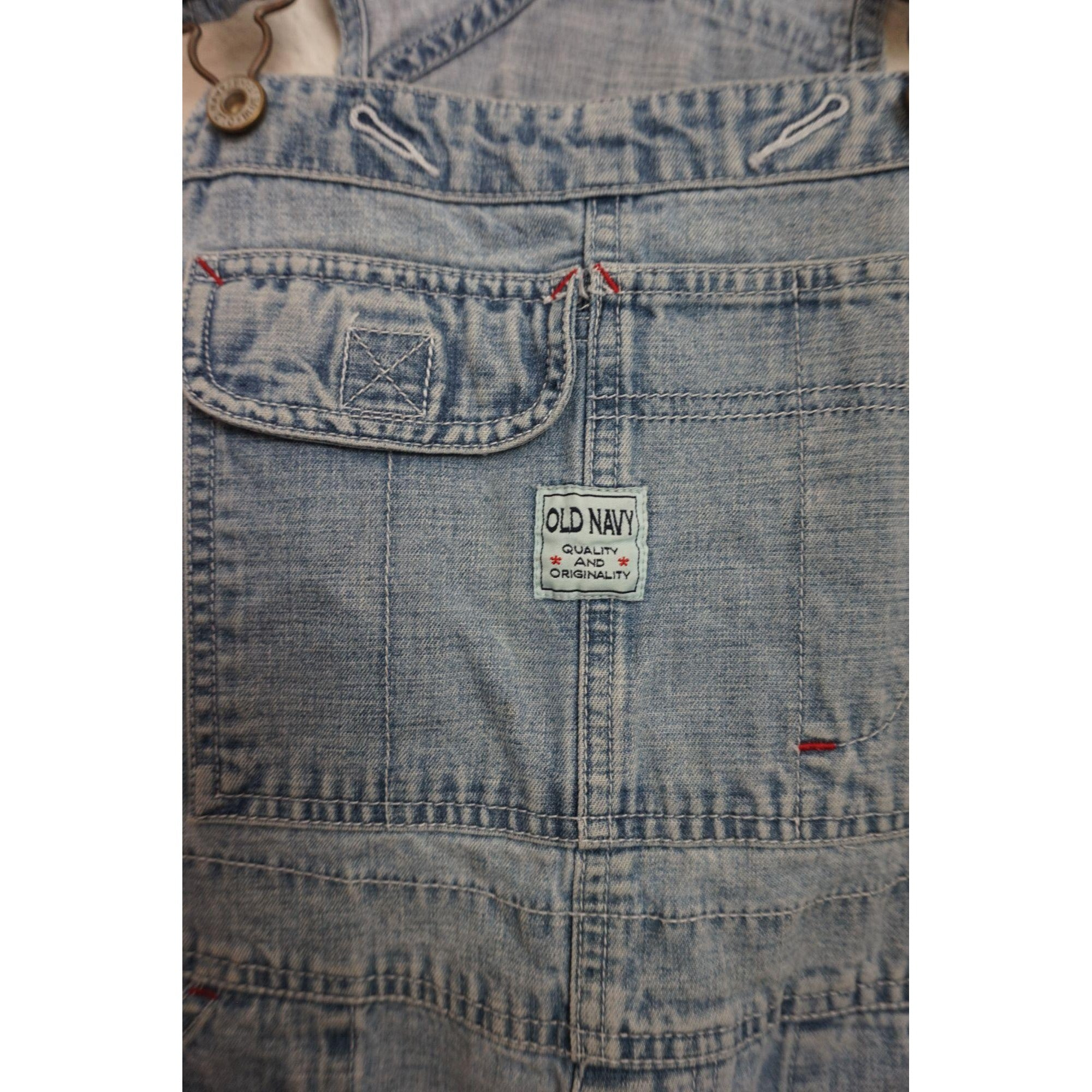 Old Navy overall denim shorts size M