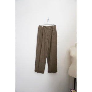 Vintage tan high rise wide leg trousers size 12