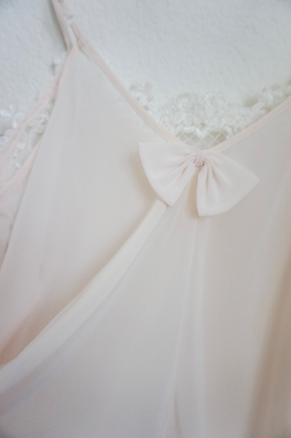 Private Luxuries sheer blush pink lace nightie size M