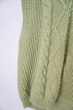 Load image into Gallery viewer, Green handknit granny sweater vest