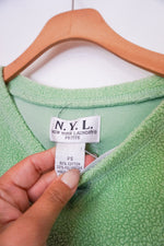 Load image into Gallery viewer, NYL light green terry cloth sweater