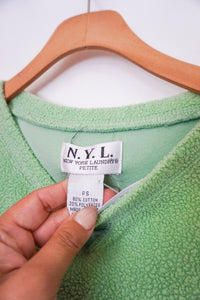 NYL light green terry cloth sweater