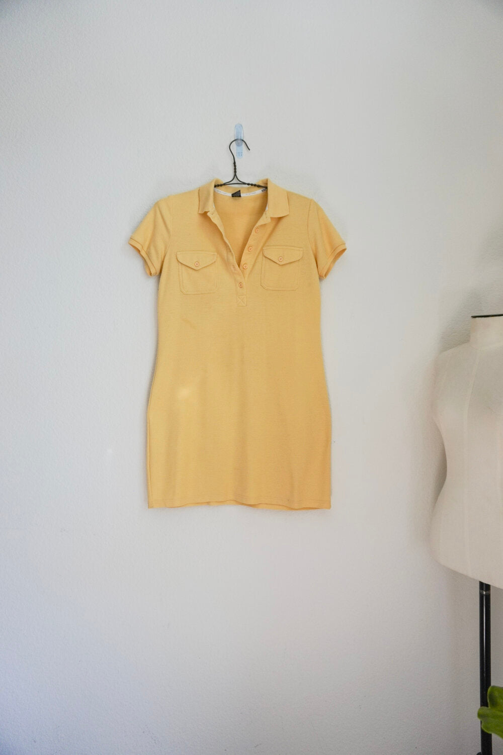 Ny&Co yellow polo tennis t-shirt casual dress