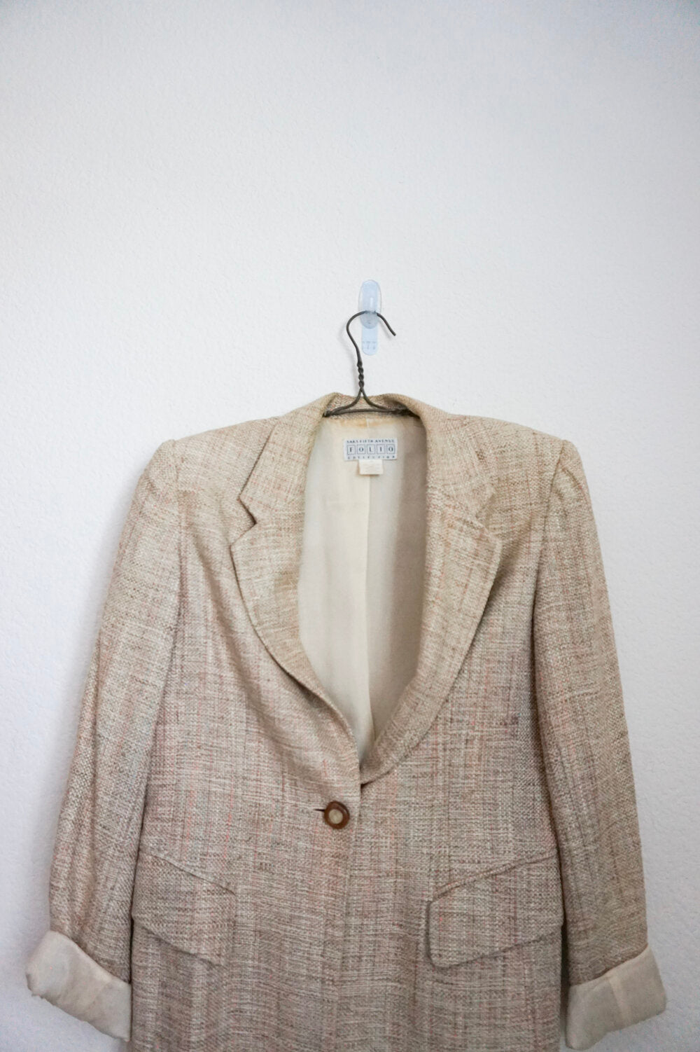 Vintage Nude Saks Fifth wool blazer