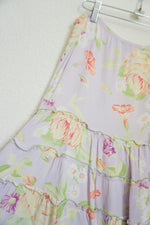 Load image into Gallery viewer, Jenny Helene pastel floral print tiered maxi skirt