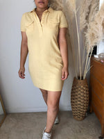 Load image into Gallery viewer, Ny&Co yellow polo tennis t-shirt casual dress
