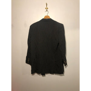 Vintage Anne Klein pinstripe double breasted blazer