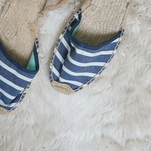 Soludos striped ankle wrap espadrilles