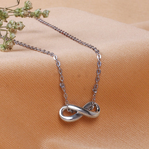 Oxidised Silver Infinity Necklace