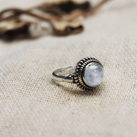 Oxidised Silver Moonstone Ring
