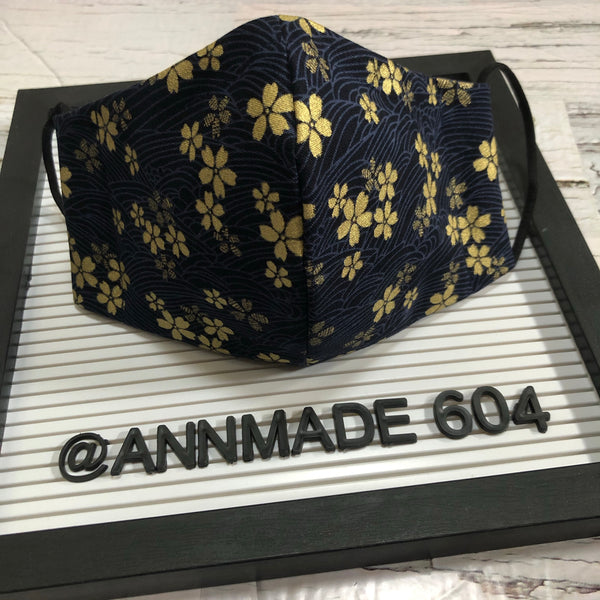 F-006 / Face Cover - Sakura Gold