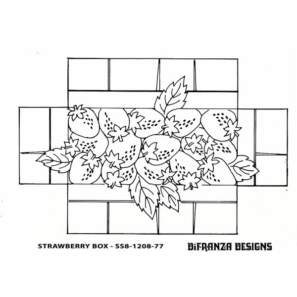 DiFranza Designs - Strawberry Box Brick Cover - Rug Hooking Supplies