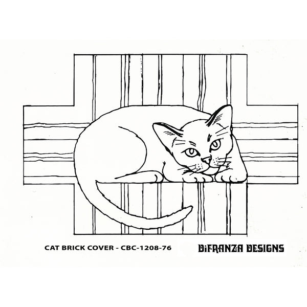 DiFranza Designs - Cat Brick Cover - Rug Hooking Supplies