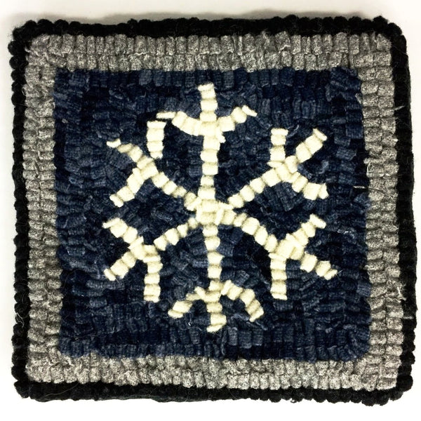 Kit - Snowflake Mug Rug - Rug Hooking Supplies