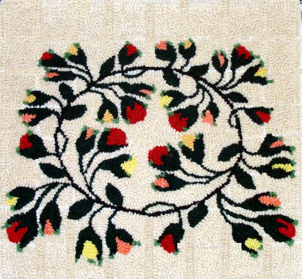 Kit - Circle of Flowers - Rug Hooking Supplies