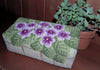 DiFranza Designs - African Violets Brick Cover - Rug Hooking Supplies