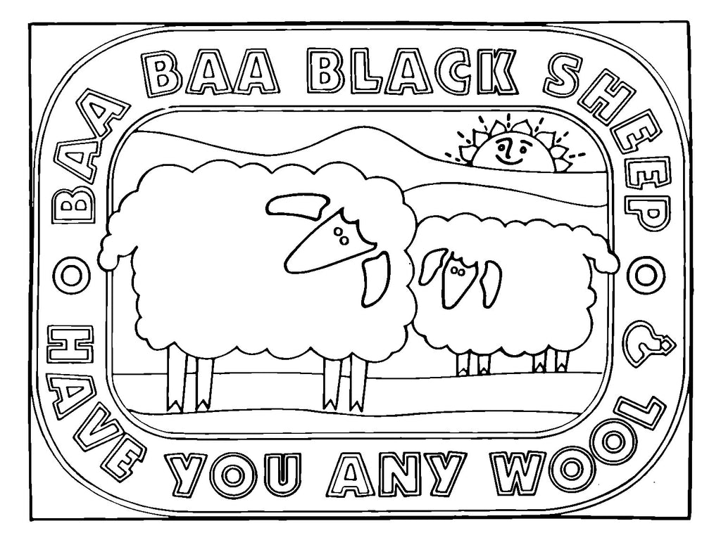 DiFranza Designs - Baa Baa Black Sheep Rug - Rug Hooking Supplies