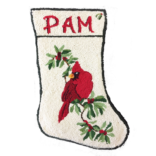 Kit - Cardinal Stocking - Rug Hooking Supplies