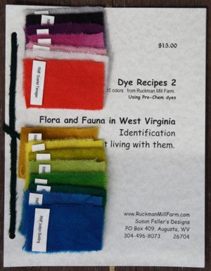 Ruckman Mill Farm - Dye Recipes 2 - Flora and Fauna in West Virginia - Rug Hooking Supplies