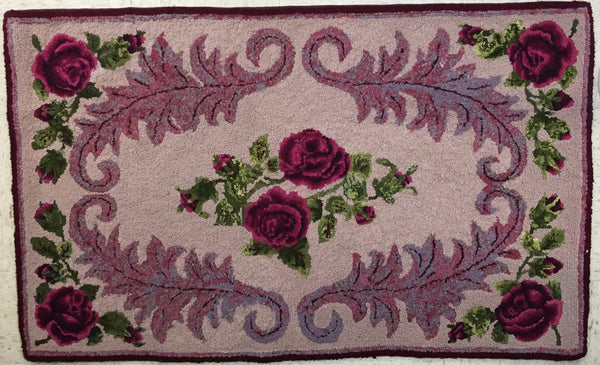 Pink Roses - Rug Hooking Supplies