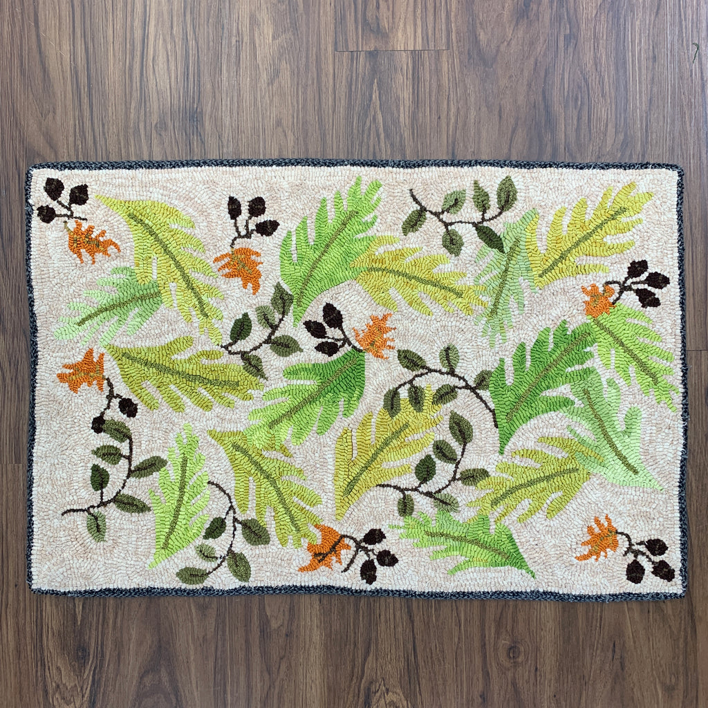 Spring Leaves - Rug Hooking Supplies