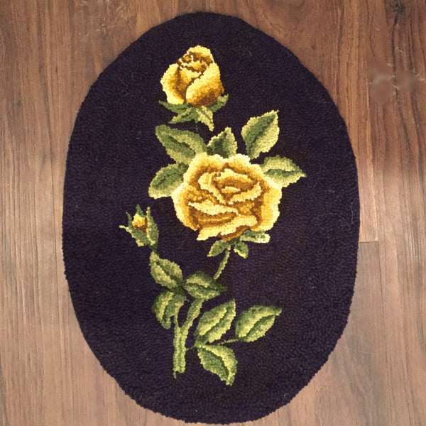 Gold Rose Oval - Rug Hooking Supplies