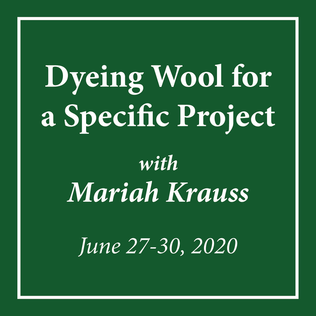 Dyeing Wool for a Specific Project Mariah Krauss - June 27-30, 2020 - Rug Hooking Supplies