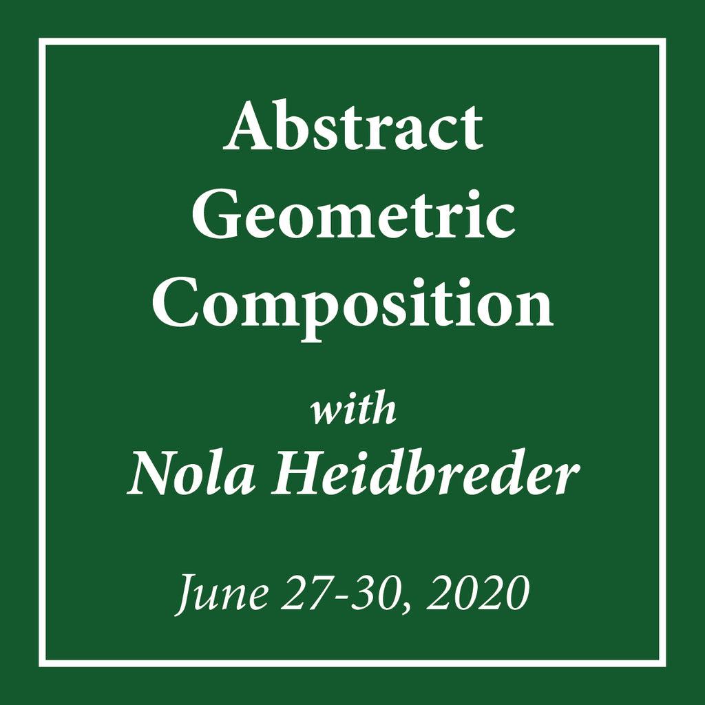Abstract Geometric Composition with Nola Heidbreder - June 27-30, 2020 - Rug Hooking Supplies