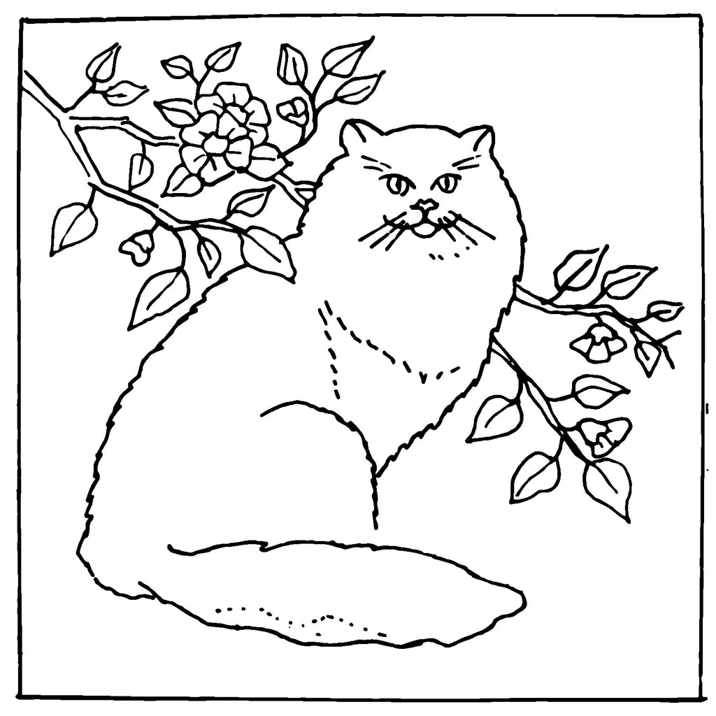 DiFranza Designs - Persian Cat - Rug Hooking Supplies