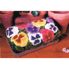 Kit - Pansy Brick Cover - Rug Hooking Supplies