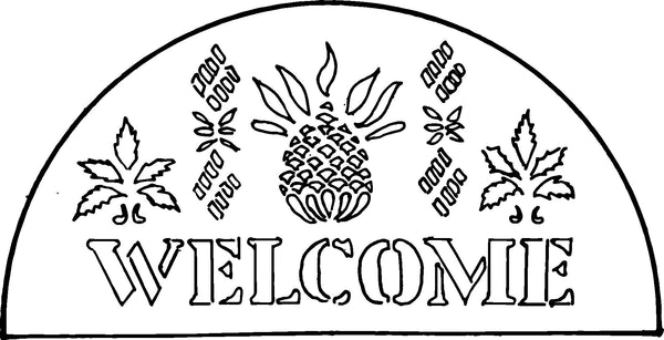 DiFranza Designs - Pineapple Stencil Rug - Rug Hooking Supplies