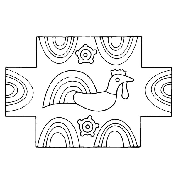DiFranza Designs - Rooster Brick Cover - Rug Hooking Supplies