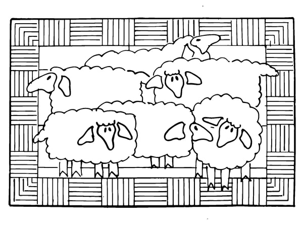 DiFranza Designs - Sheep Rug - Rug Hooking Supplies